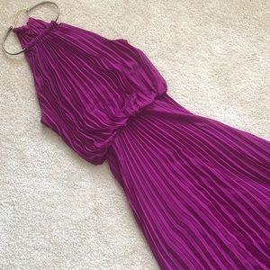 MSK maxi necklace dress in purple